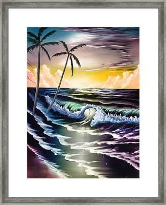 Ocean Sunset Framed Print by Koko Elorm