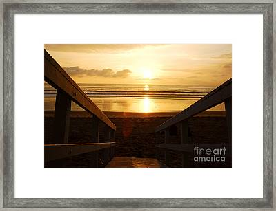 Ocean Sunset Framed Print by Micah May