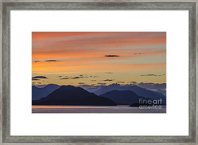Ocean Sunset At British Columbia Framed Print by Ning Mosberger-Tang
