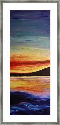 Ocean Sunset Framed Print by Bex Schoof