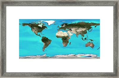 Ocean Surface Ph Framed Print by Noaa