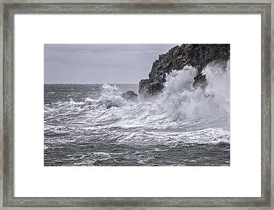 Ocean Surge At Gulliver's Framed Print by Marty Saccone