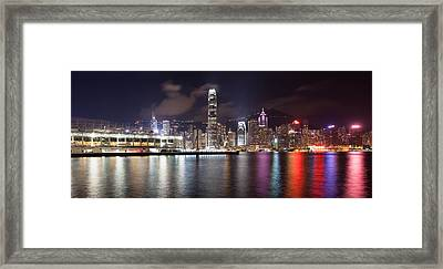 Ocean Terminal With Hong Kong City Skyline Framed Print by JPLDesigns