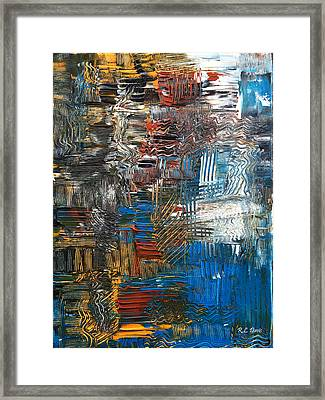 Framed Print featuring the painting Ocean Tide by Rebecca Davis