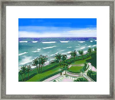 Ocean Trail Beach Framed Print