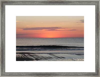 Framed Print featuring the photograph Ocean Trails by Robert Banach