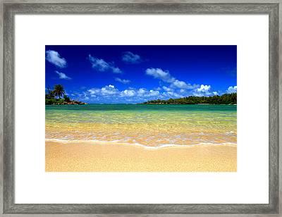 Ocean Tranquil Framed Print by Saya Studios