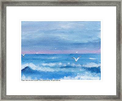 Ocean View #2 Framed Print by Sarah Howland-Ludwig