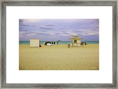 Ocean View 3 - Miami Beach - Florida Framed Print by Madeline Ellis