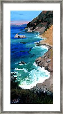Ocean View At Big Sur Framed Print