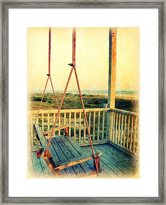 Ocean View At Oak Island 2 Framed Print