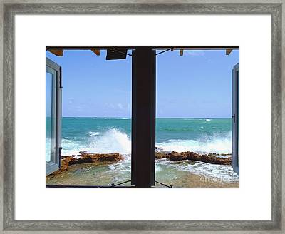 Ocean View Framed Print by Carey Chen