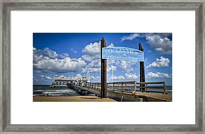 Ocean View Fishing Pier Color Framed Print