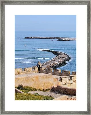 Ocean View From The Old Medina In Rabat In Morocco Framed Print
