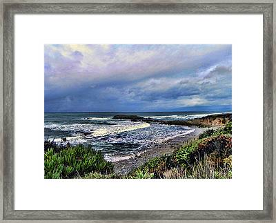 Ocean View Framed Print by Kathy Churchman