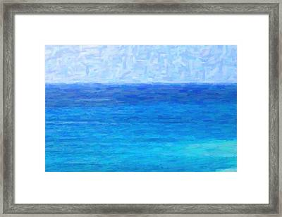 Ocean View Framed Print by Kenny Francis