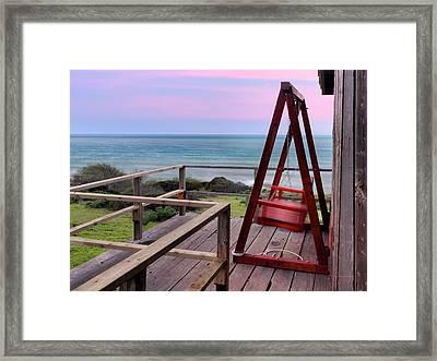 Ocean View Seat Framed Print by Leland D Howard