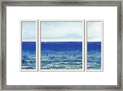 Ocean View Window Framed Print by Irina Sztukowski