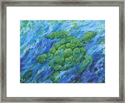 Ocean Voyager Framed Print by Penny Birch-Williams