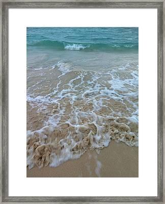 Ocean Wave Caress Framed Print