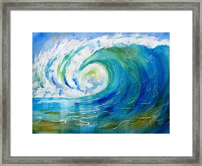 Ocean Wave Framed Print