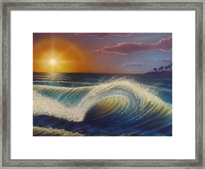 Ocean Wave Framed Print by Darren Robinson