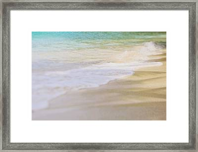 Framed Print featuring the photograph Ocean Waves by Heather Green