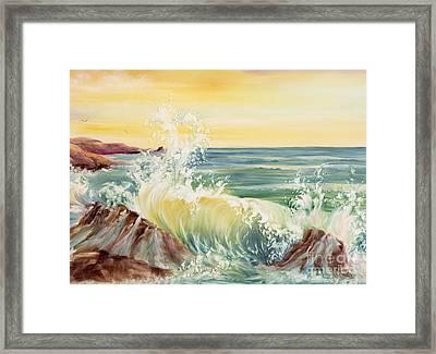 Ocean Waves II Framed Print by Summer Celeste