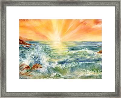 Ocean Waves IIi Framed Print by Summer Celeste
