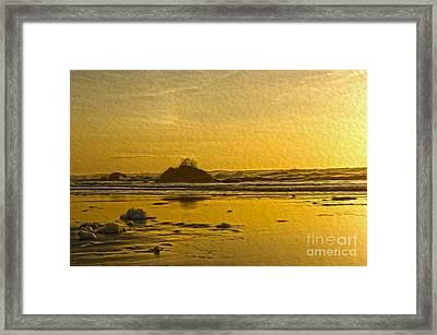 Ocean Yellow Framed Print by Nur Roy