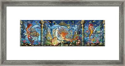 Oceana Triptych Framed Print by Ciro Marchetti