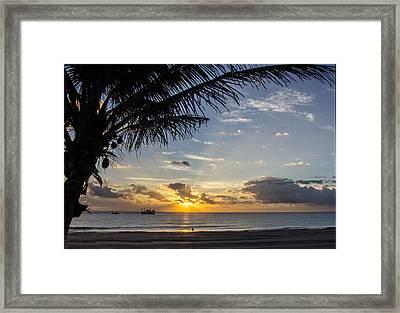 Oceanfront Park Sunrise 1 Framed Print