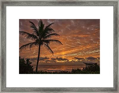 Oceanfront Park Sunrise 2 Framed Print