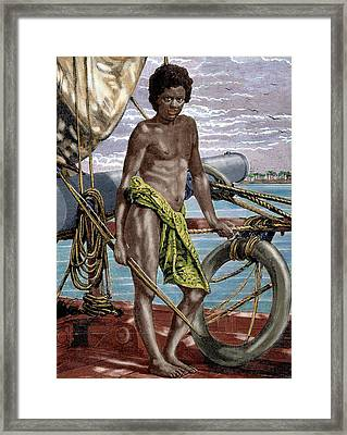 Oceania Micronesia Koror Native (palau Framed Print by Prisma Archivo