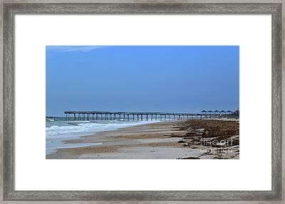 Oceanic Pier Framed Print