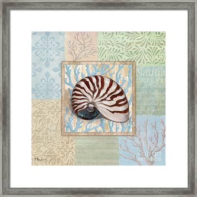 Oceanic Shell Collage IIi Framed Print
