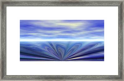 Oceanic Sink Hole Framed Print by Wayne Bonney