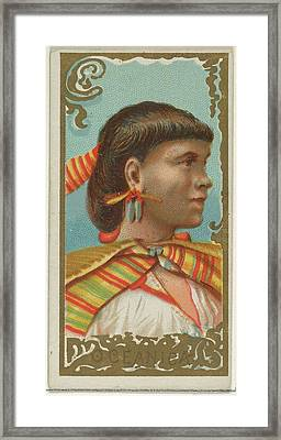 Oceanica, From The Types Of All Nations Framed Print by Allen & Ginter