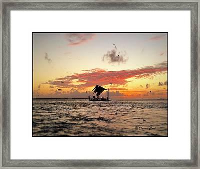 Oceanlife At Sunset Framed Print