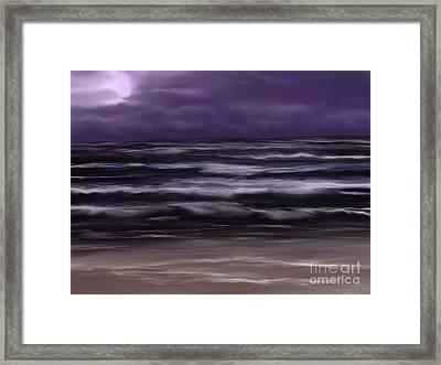 Ocean Night Framed Print by Roxy Riou