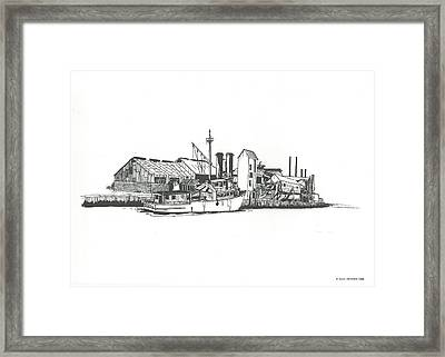 Oceanport Fish Factory Framed Print