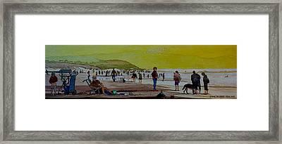 Oceans Beach San Francisco Framed Print