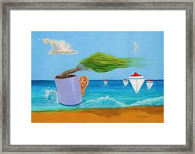 Ocean's Dream Framed Print by R Neville Johnston