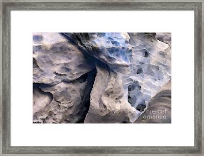 Oceans Edge Framed Print by Gwyn Newcombe