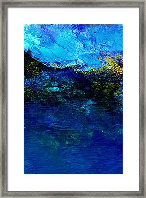 Framed Print featuring the photograph Oceans Edge by Michael Nowotny