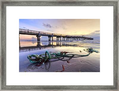 Ocean's Gift Framed Print by Debra and Dave Vanderlaan