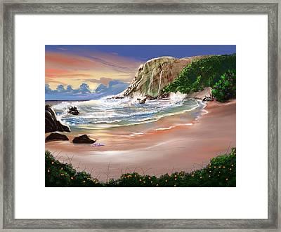 Ocean's Last Light Framed Print by Anthony Fishburne