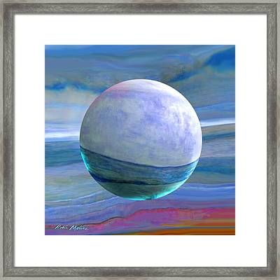 Framed Print featuring the painting Oceans by Robin Moline