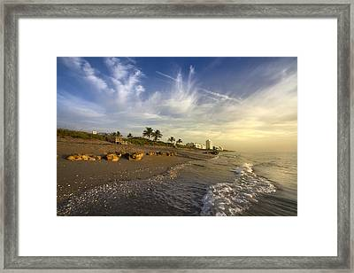 Ocean's Soft Light Framed Print by Debra and Dave Vanderlaan