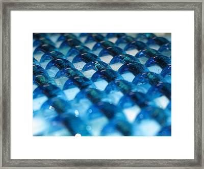 Oceans Woven Glass Framed Print by Steven Schramek